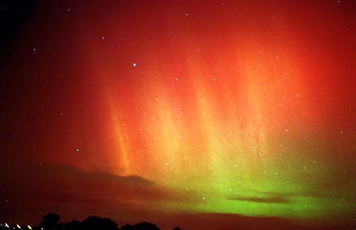 L'aurore polaire photographiée par Ph.  Demoulin